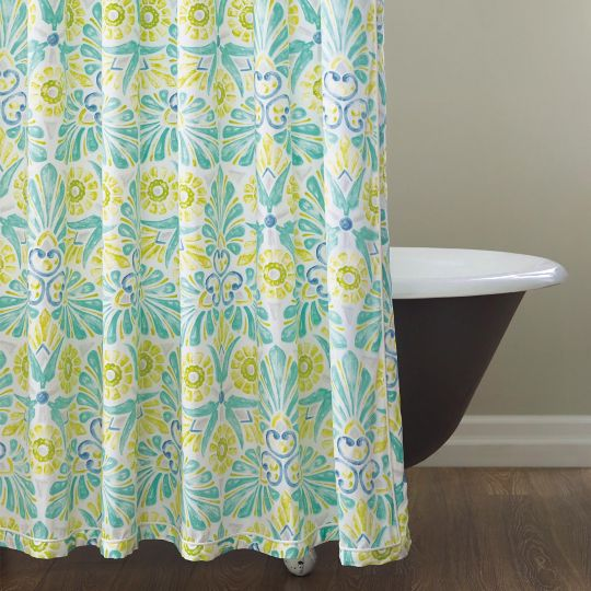 Painted Medallions Shower Curtain