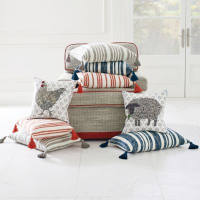 Denim Stripe Pillow image 2