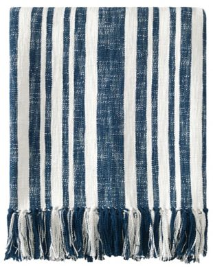 Denim Stripe Throw
