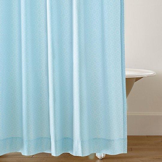 Diamond Lattice Shower Curtain