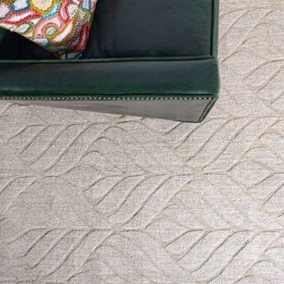 Textured Leaf Rug image 5