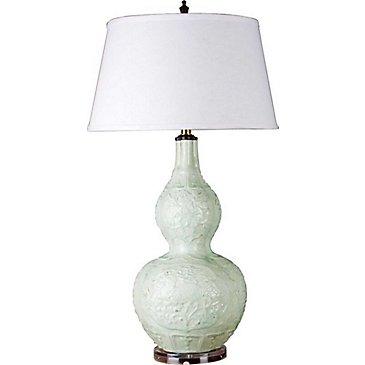 Jasmine Porcelain Gourd Lamp
