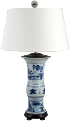 Landscape Porcelain Lamp image 1