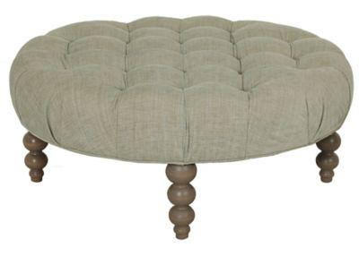 Rockport Round Tufted Ottoman image 1