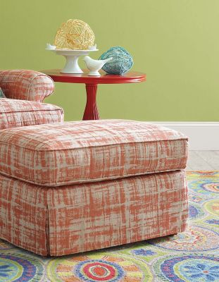 Orleans Skirted Ottoman image 2