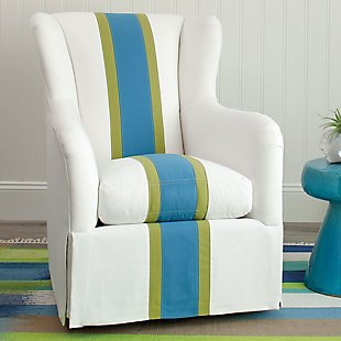 Helene swivel glider - Sunbrella Fabric Stripes
