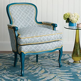 Brigitte Chair - Marlowe Stripe Blue